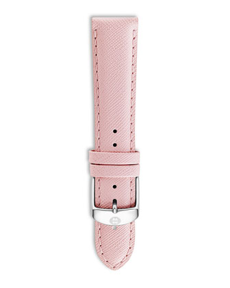 20mm Saffiano Leather Strap, Powder Pink