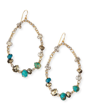 Gilded Muse d'Ore Crystal Hoop Wire Earrings