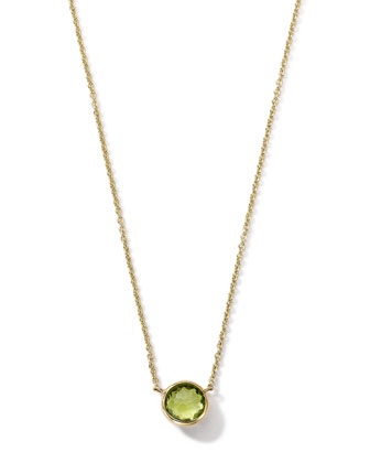 18K Gold Mini-Lollipop Birthstone Necklace (August), 16-18