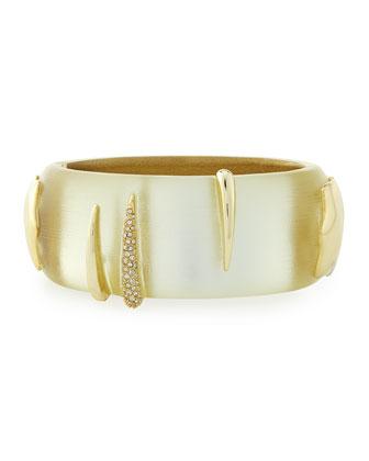 Vert d'Eau Tiger Hinge Bracelet, Ivory