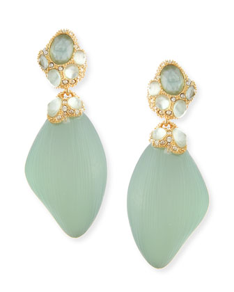 Vert d'Eau Mother-of-Pearl Dangle Earrings