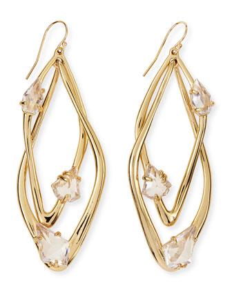 Miss Havisham Orbital Floating Stone Earrings