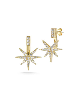 Astral Earrings with Star Jacket