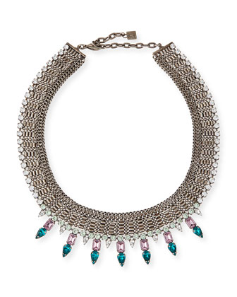 Zoe Multi-Chain Necklace with Crystal Spikes