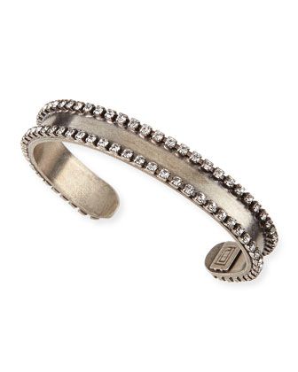 Lane Chain & Crystal Cuff Bracelet
