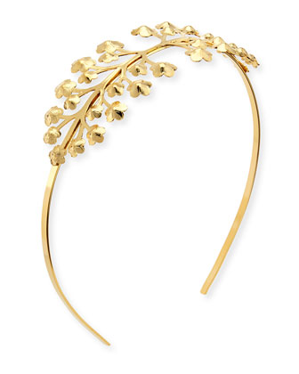 Florette Metal Headband, Gold