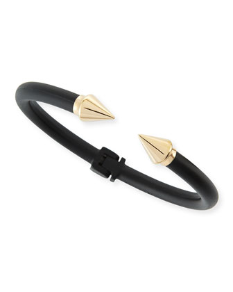 Titan Mini Two-Tone Bracelet, Black/Rose Gold