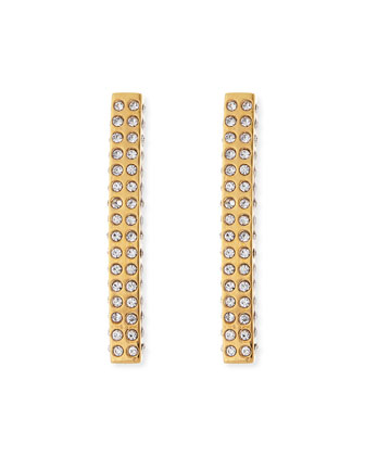 Lia Crystal Bar Earrings, Golden