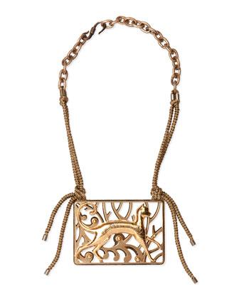 Brass Animal Necklace