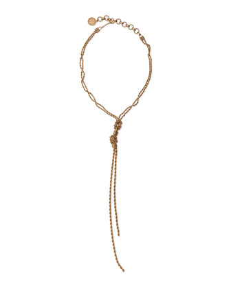 Knotted Chain Pendant Necklace