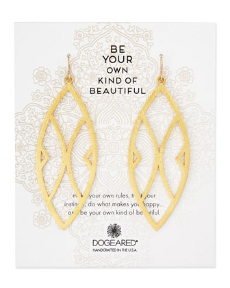 Gold-Dipped Be Your Own Kind of Beautiful Earrings