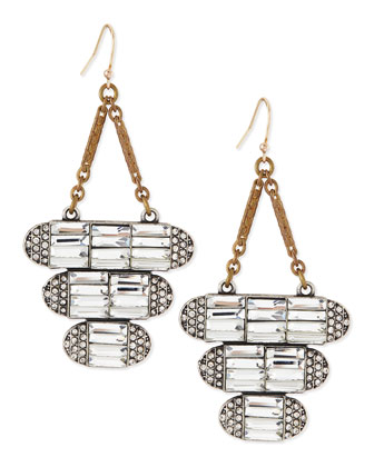 Elizabeth Crystal Drop Earrings