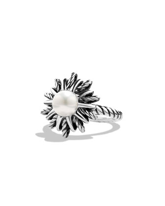 Starburst Ring with Pearl