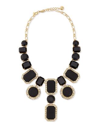 black jewel statement necklace