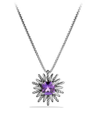 Starburst Pendant with Amethyst on Chain
