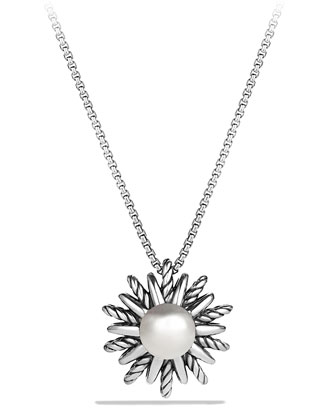 Starburst Pendant Necklace with Pearl