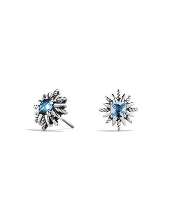 Starburst Earrings with Blue Topaz