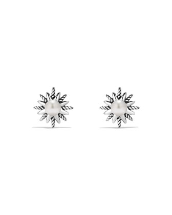 Starburst Stud Earrings with Pearls
