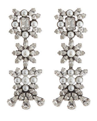 Tilly Pearl & Crystal Earrings