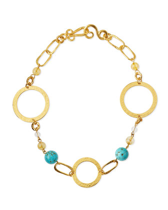 Love Gold-Dipped Turquoise Necklace