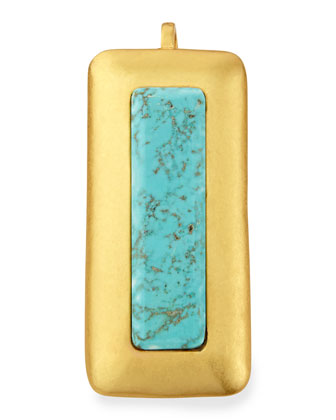 Crush Turquoise Rectangle Pendant