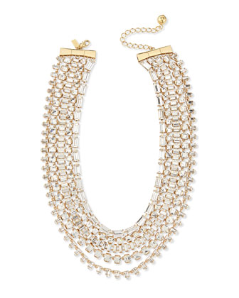 multi-strand crystal statement necklace