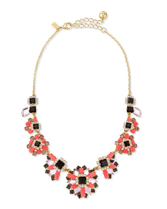 space age floral statement necklace