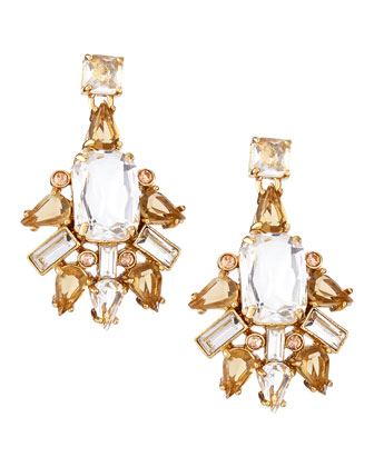 formal facets chandelier earrings