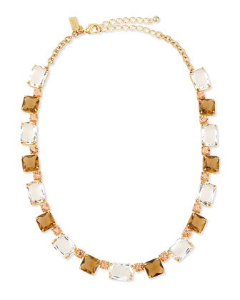 formal facets collar necklace