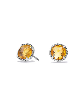 Chatelaine Stud Earrings with Citrine