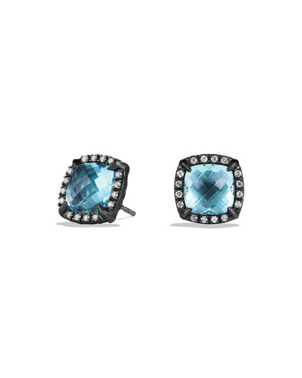 Chatelaine Earrings with Blue Topaz and Diamonds
