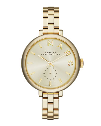 36mm Baker Skinny Bracelet Watch, Golden