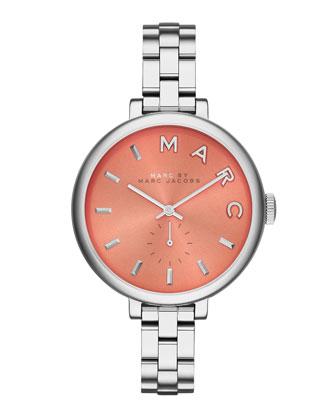36mm Baker Skinny Bracelet Watch, Silver/Whey