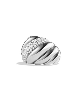 Hampton Cable Ring with Diamonds
