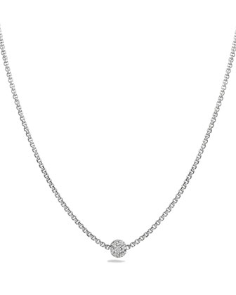 Petite Pave Necklace with Diamonds