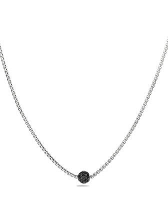 Petite Pave Necklace with Black Diamonds