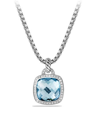 Albion Pendant with Blue Topaz and Diamonds