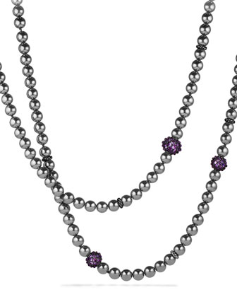 Osetra Necklace with Hematite and Amethyst