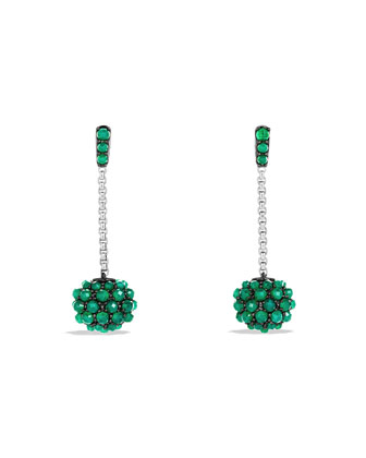 Drop Earrings with Green Onyx
