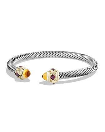 Renaissance Bracelet with Citrine, Garnet, and Gold