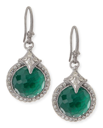 New World Malachite Blue Topaz Drop Earrings