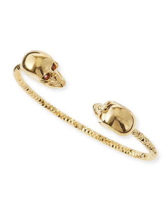 Twin Skull Golden Bracelet