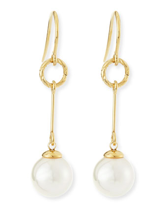 Pearl Gold Vermeil Drop Earrings
