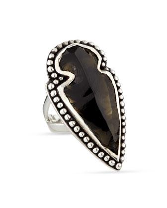 Obsidian Arrowhead Ring