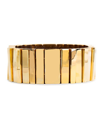 Stairwell 14k Gold-Plated Stretch Cuff