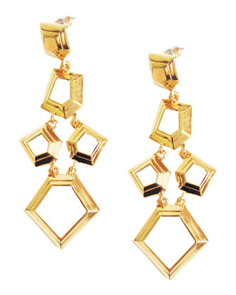 Faceted Chip Chandelier Earrings