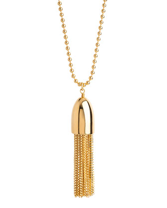 14k Gold-Plated Bullet Tassel Necklace