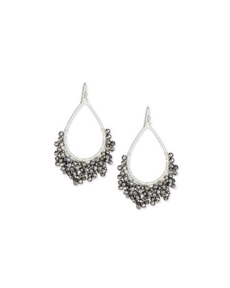 Beaded Open Teardrop Earrings