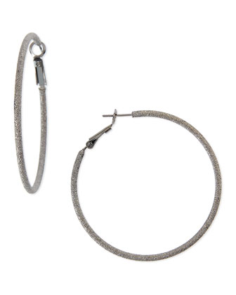 Large Stardust Hoop Earrings