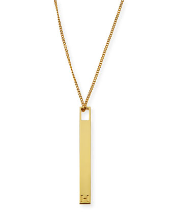 Golden Bar Pendant Necklace